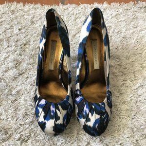 Cynthia Vincent Womens Shoes Blue Black High Heel